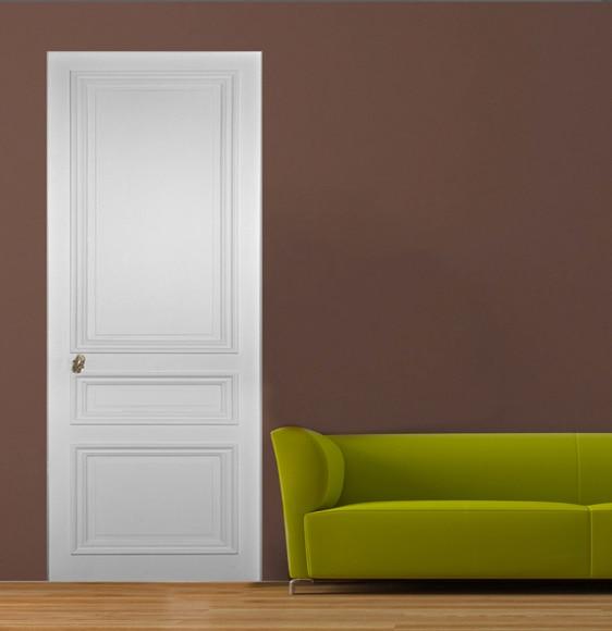 Vinilo para puerta sticker puerta cl sica blanca ref - Vinilo para puerta ...