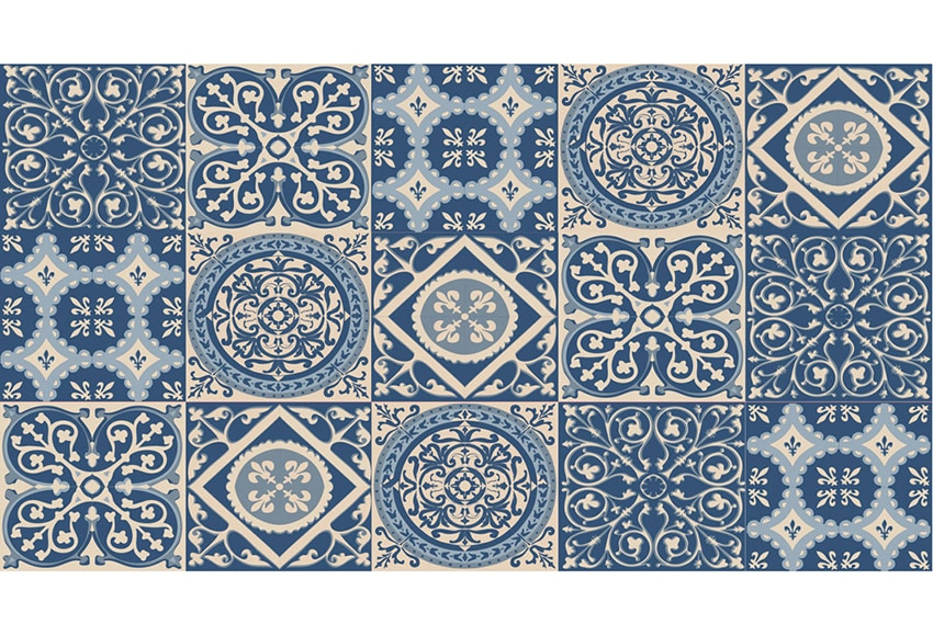 Textil adhesivo decorativo azulejo azul ref 19119961 - Azulejos adhesivos leroy merlin ...