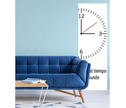 Vinilo decorativo reloj ref 81865614 leroy merlin - Reloj vinilo decorativo ...