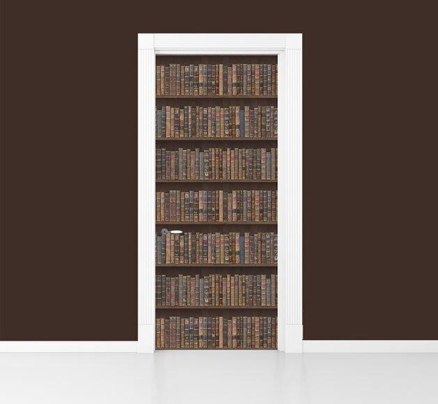 Adhesivo mural para puerta librer a ref 81928310 leroy for Libreria leroy merlin