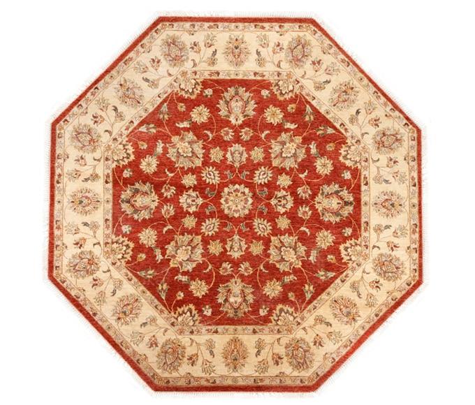 Alfombra oriental octogonal diametro 240 cm alfombra india - Alfombras dormitorio leroy merlin ...
