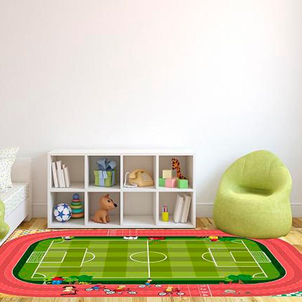 Alfombra infantil campo de futbol ref 16568636 leroy merlin - Alfombras infantiles leroy merlin ...