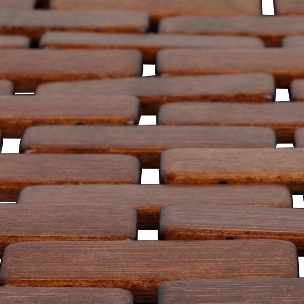 Alfombra de ba o madera domino ref 16620170 leroy merlin - Alfombras de madera ...