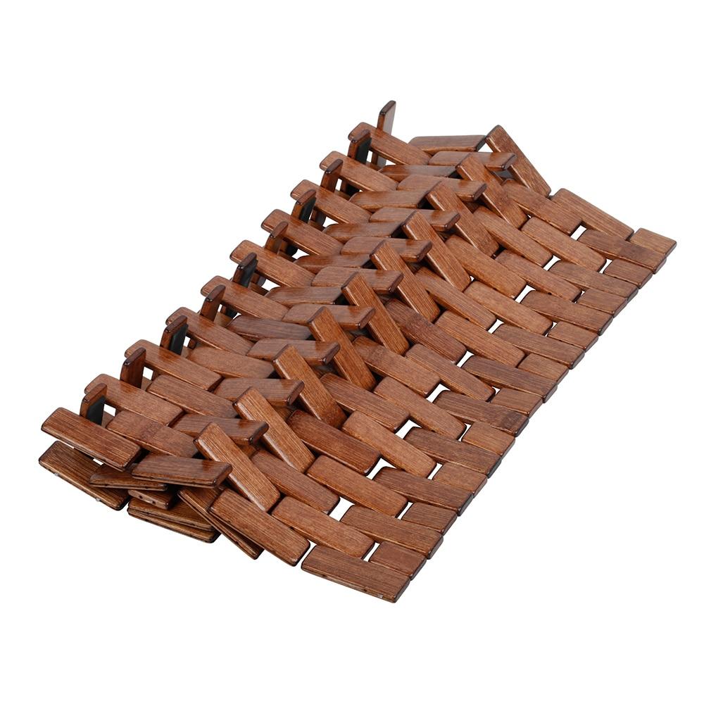 Alfombra de ba o madera domino ref 16620170 leroy merlin - Tablas madera leroy merlin ...