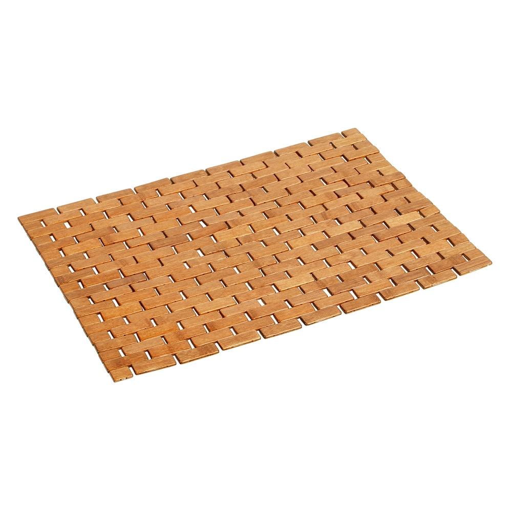 alfombra de ba o madera domino ref 16620184 leroy merlin