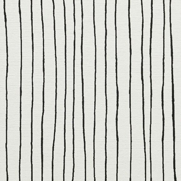 Papel pintado vin lico linea blanco y negro for Rollo papel vinilico