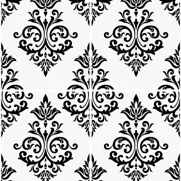 Papel pintado pallade blanco y negro ref 14002506 leroy for Papel pintado blanco y plata