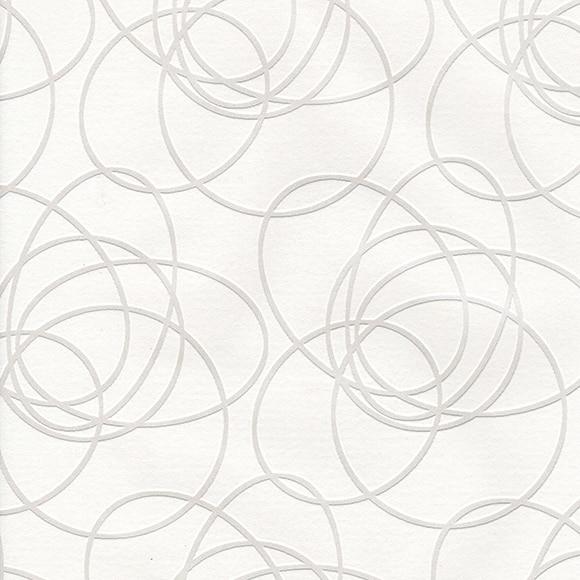 Papel pintado circle oval blanco ref 14002513 leroy merlin for Papel pintado blanco