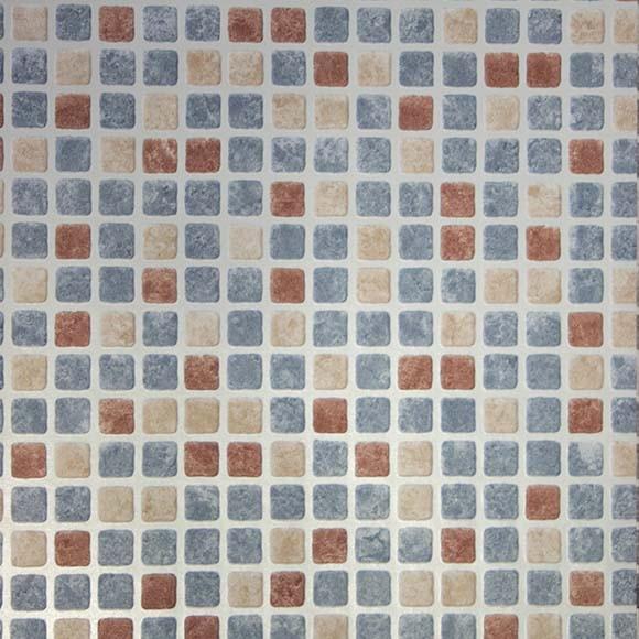 Papel pintado gresite ii ref 14359513 leroy merlin for Papel pintado turquesa y marron
