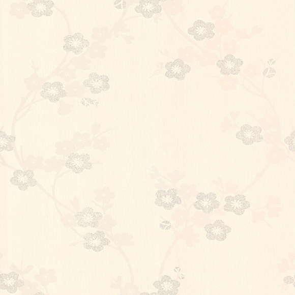 Papel pintado flor blanco y plata ref 14753746 leroy merlin - Papel pintado blanco y gris ...