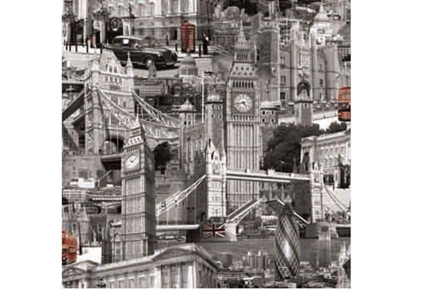 Papel pintado concepto london ref 15030764 leroy merlin - Papel decorativo leroy merlin ...