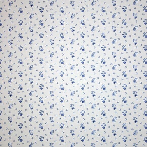 Papel pintado chester flor azul ref 15310631 leroy merlin for Papel pintado azul