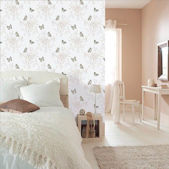 Papel pintado dulce mariposas beige ref 16091684 leroy for Papel pintado coruna