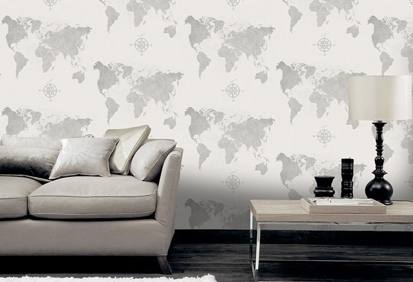 Papel pintado map du monde ref 16091691 leroy merlin for Papel pintado coruna
