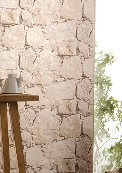 Papel pintado piedras reality ref 16852346 leroy merlin - Leroy merlin jardin piedras calais ...