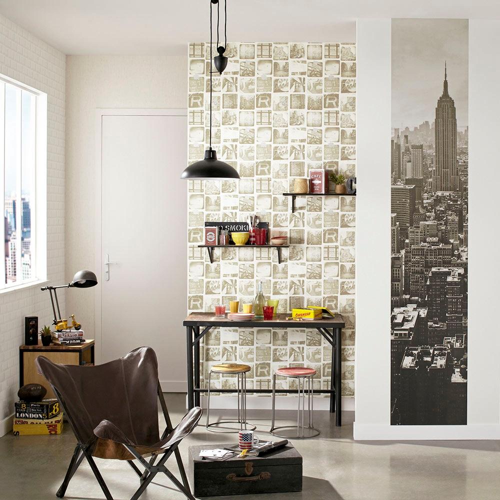 Papel pintado azulejo life metro ref 17435313 leroy merlin - Papel pintado sobre azulejos ...