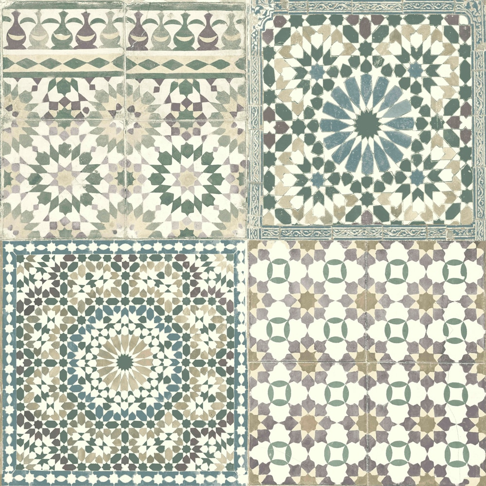Papel pintado azulejos vintage ref 19388474 leroy merlin - Azulejos leroy merlin ofertas ...