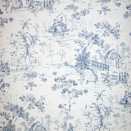Papel pintado chester toile ref 15310666 leroy merlin for Empapelar pared leroy merlin