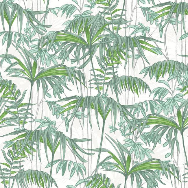 Papel pintado cintas ref 17848110 leroy merlin for Papel pintado hojas verdes