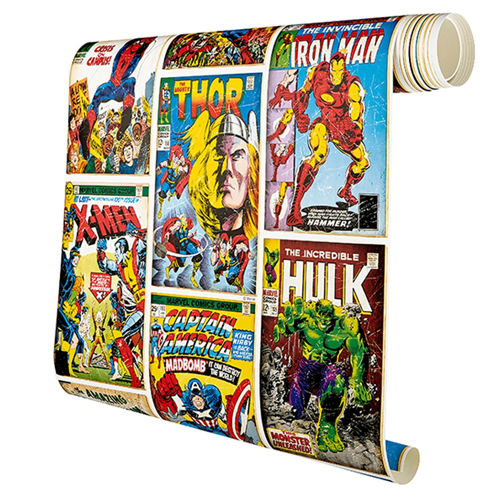 Papel pintado comic marvel ref 17288796 leroy merlin - Papel pintado comic ...