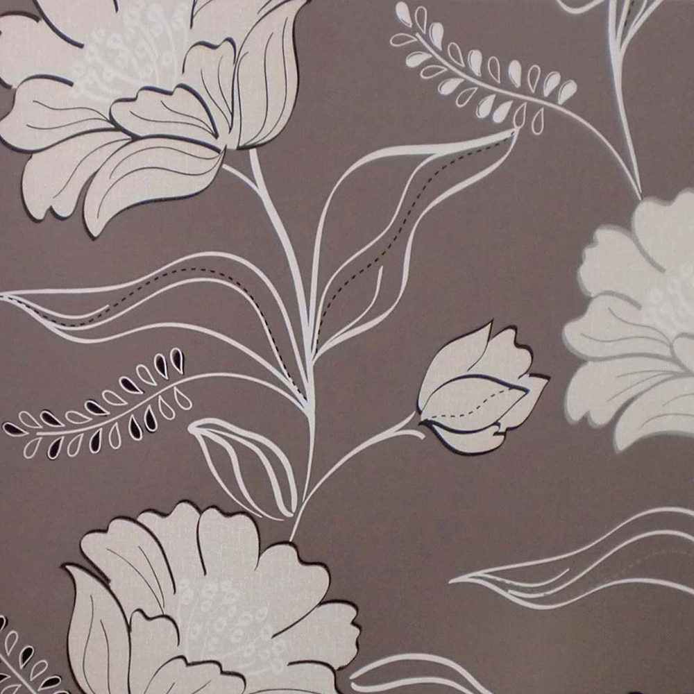 Papel pintado flores noche ref 16091796 leroy merlin for Empapelar pared leroy merlin