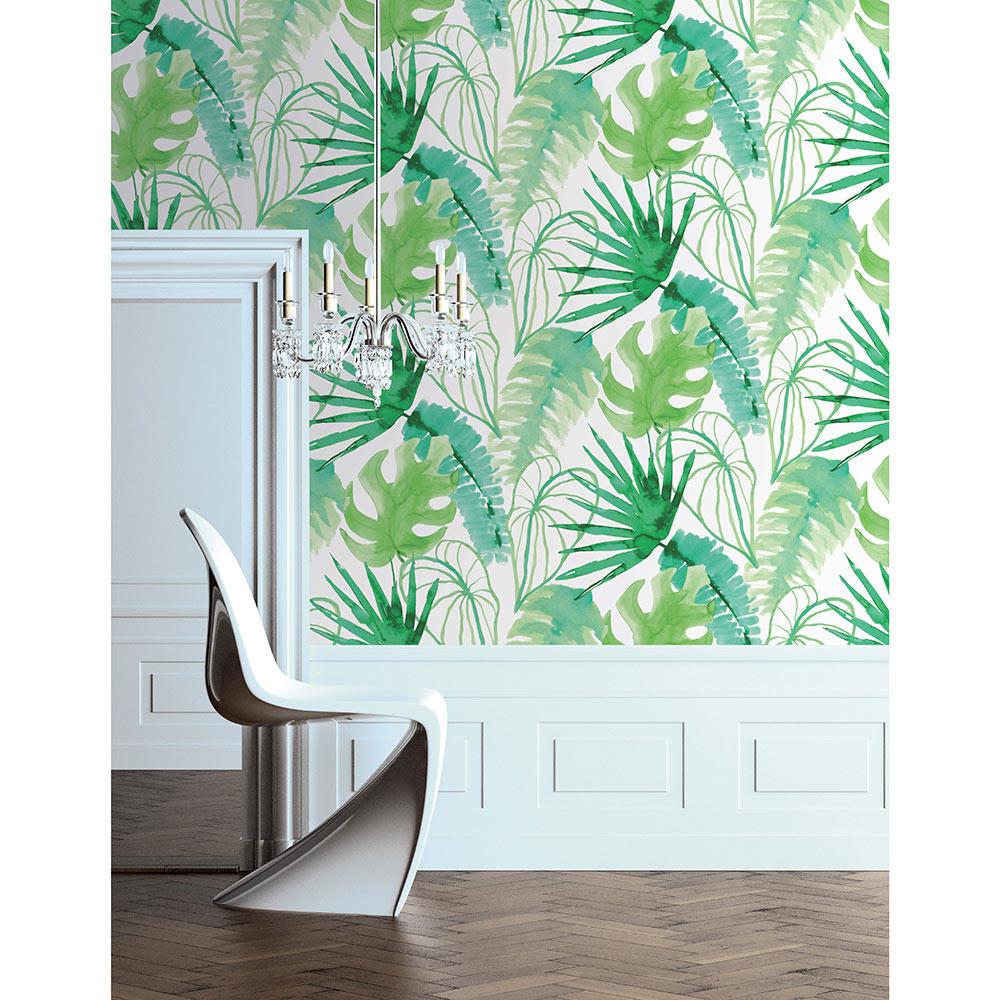 Papel pintado hoja de palma ref 17854102 leroy merlin - Como poner papel pintado leroy merlin ...