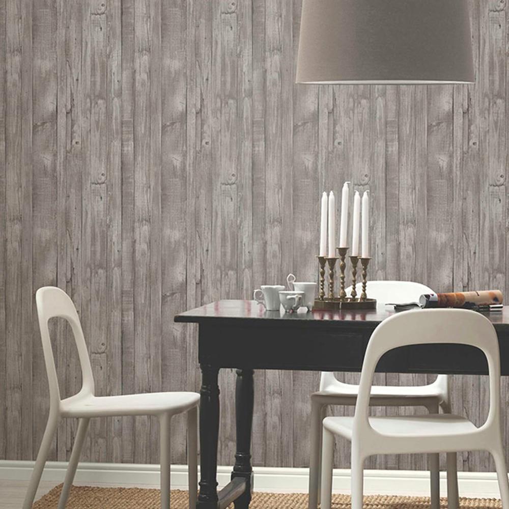 Papel pintado imitacion madera ref 17853304 leroy merlin - Papel pintado blanco y gris ...