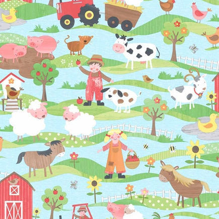 Papel pintado infantil tiny tots granja ref 17281061 - Leroy merlin papel pintado infantil ...