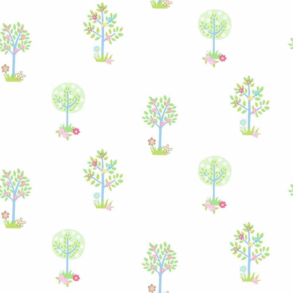 Papel pintado infantil tiny tots jardin ref 17280851 - Leroy merlin papel pintado infantil ...