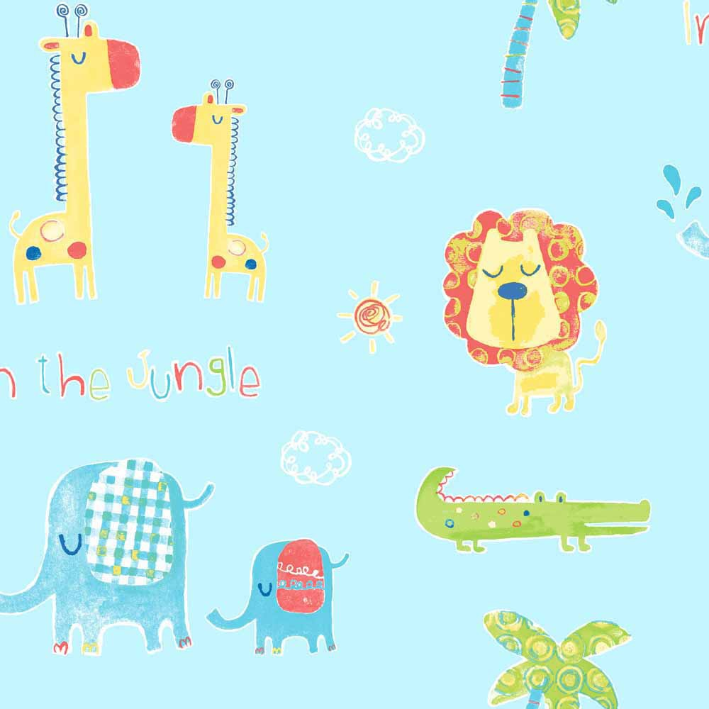 Papel pintado infantil tiny tots jungle ref 17280830 - Leroy merlin papel pintado infantil ...