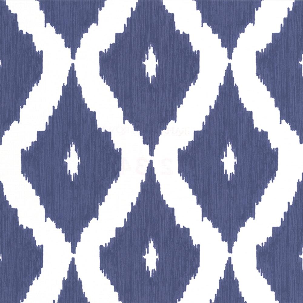 Papel pintado kelly h ikat indigo ref 17453744 leroy merlin for Papel pintado azul