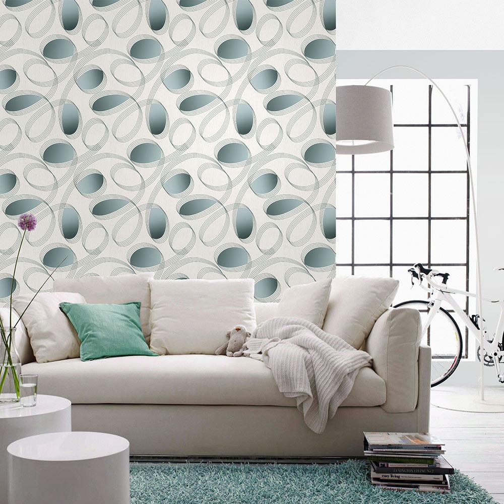 New wohnsinn dexter leroy merlin for Papel pintado pared salon
