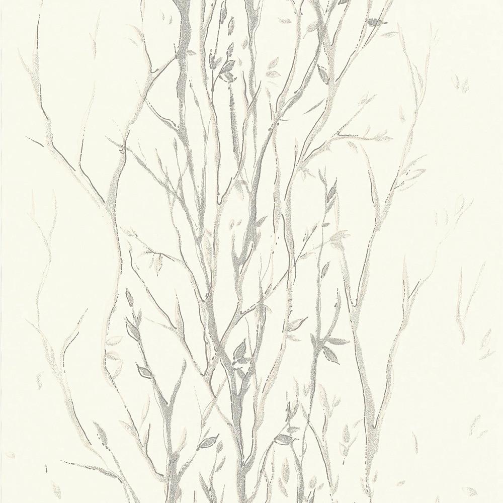 Papel pintado ramas ref 16759491 leroy merlin - Papel pintado gris ...