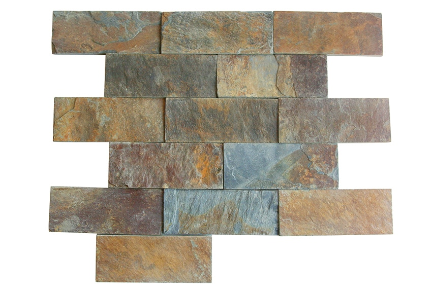 Aplacado de piedra natural p bernardos pizarra multicolor for Piedra natural pizarra