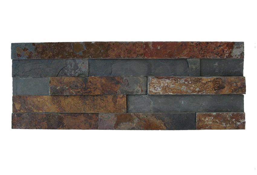 Revestimiento de piedra natural 40x15 minilaja negra ref - Revestimiento de paredes leroy merlin ...