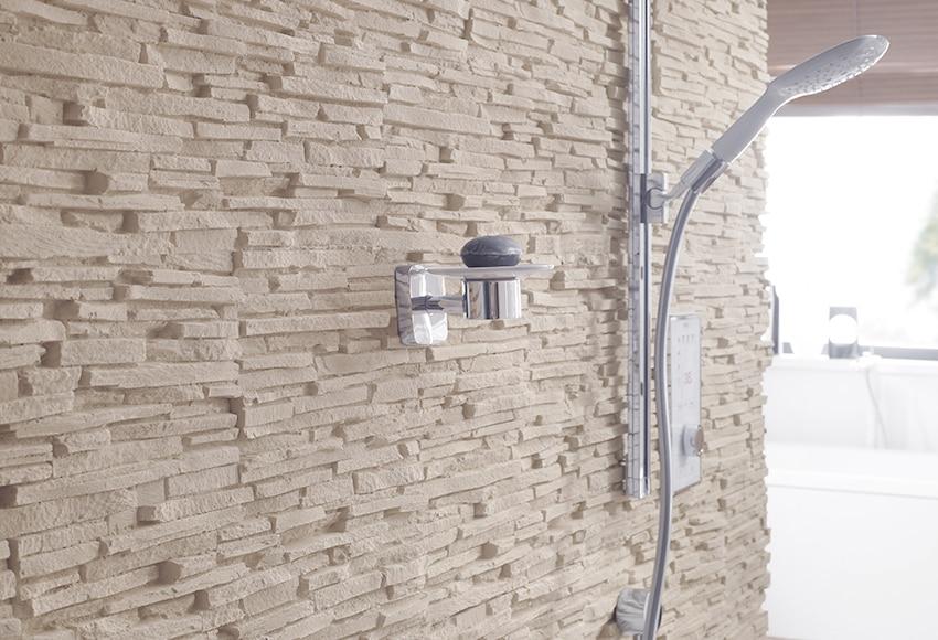 Plaqueta con acabado laja klimex bolonia crema ref - Plaqueta decorativa exterior ...