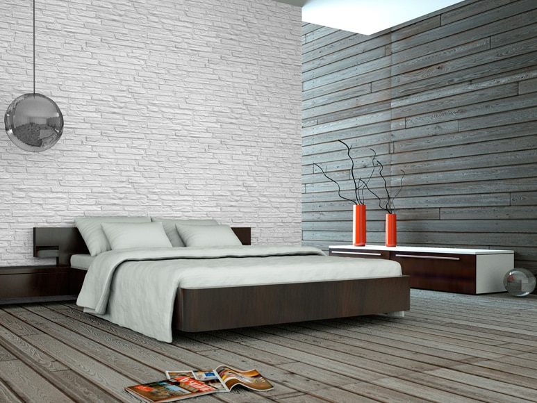 Panel de poliuretano con acabado ladrillo panespol - Ladrillo decorativo interior ...