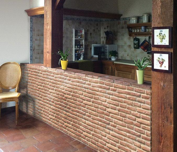 Plaqueta medina ladrillo terracota ref 17960012 leroy - Apliques de pared rusticos leroy merlin ...