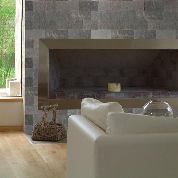 Revestimiento de piedra natural 30x10 pluma gris ref - Revestimiento piedra natural ...