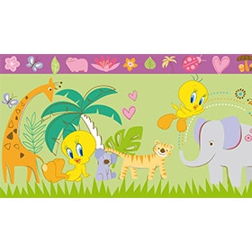 Vinilo infantil wonderland 980 2 ref 17107020 leroy merlin - Cenefas de papel infantiles ...