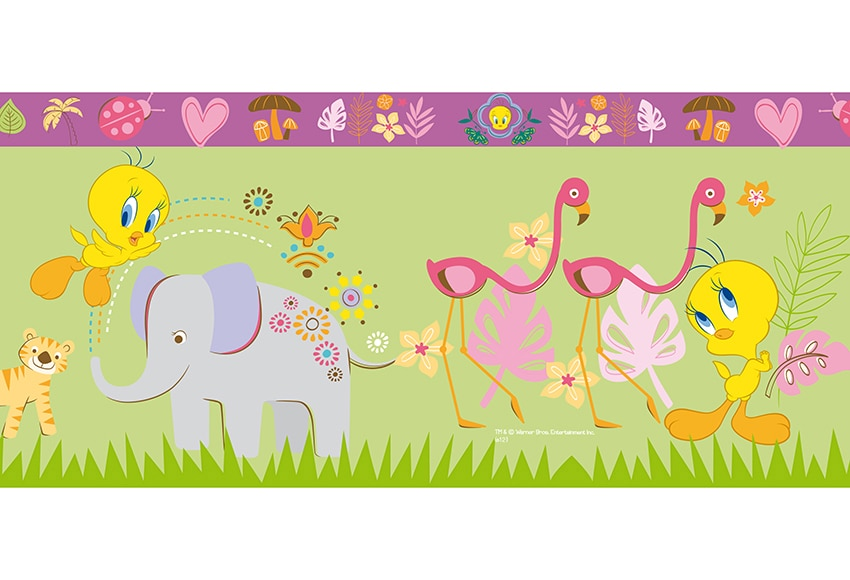 Cenefa infantil de papel piolin africa verde ref 17107293 - Cenefas de papel infantiles ...