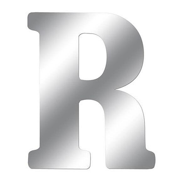 Vinilo efecto espejo espejo letra r ref 15099182 - Letras adhesivas leroy merlin ...