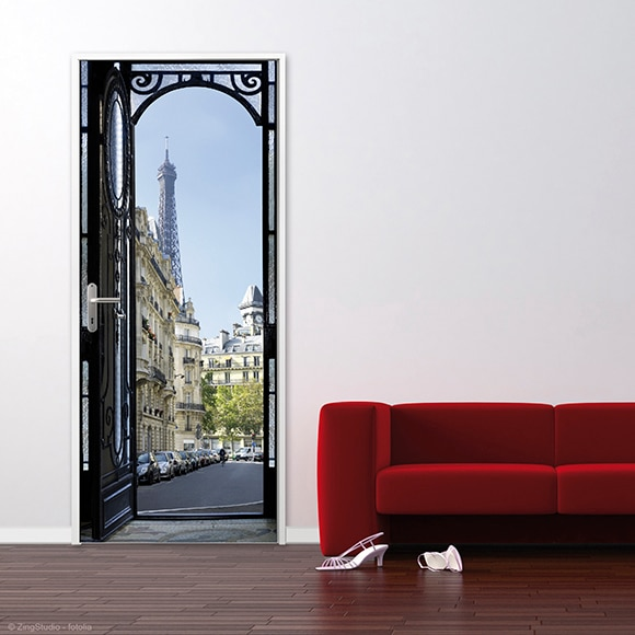 Vinilo para puerta paris ref 16776333 leroy merlin - Vinilos decorativos pared leroy merlin ...