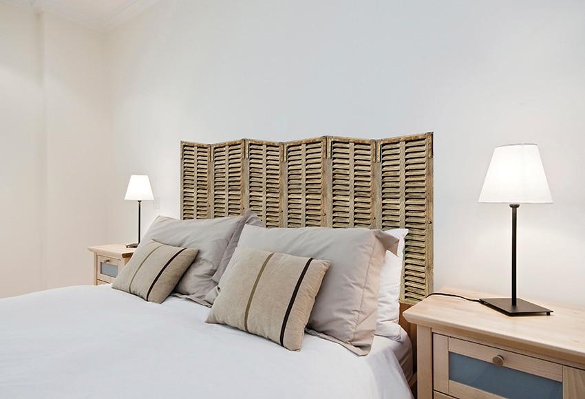 Vinilo para cabecero biombo madera ref 16776515 leroy - Vinilos decorativos dormitorio ...