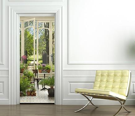 Vinilo para puerta jardin invierno ref 16776872 leroy for Puertas jardin leroy merlin