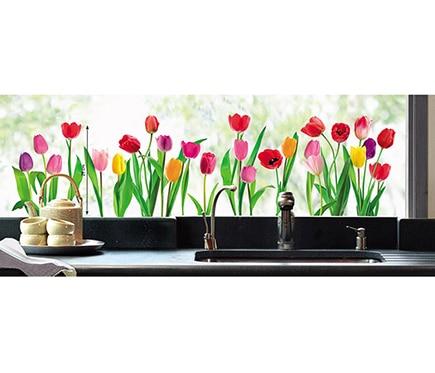 Vinilo para ventana tulipanes ref 16856350 leroy merlin Vinilos bebe leroy merlin
