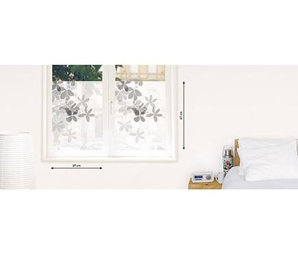 Vinilo para ventana transl cido flores ref 16856686 - Vinilos para encimeras leroy merlin ...