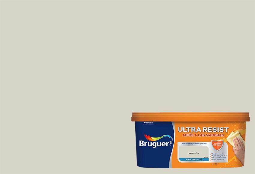 Pintura de color para paredes y techos bruguer beige noble for Pintura beige pared