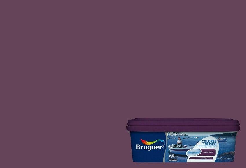Colores del mundo mediterraneo morado capri bruguer - Bruguer colores del mundo leroy merlin ...
