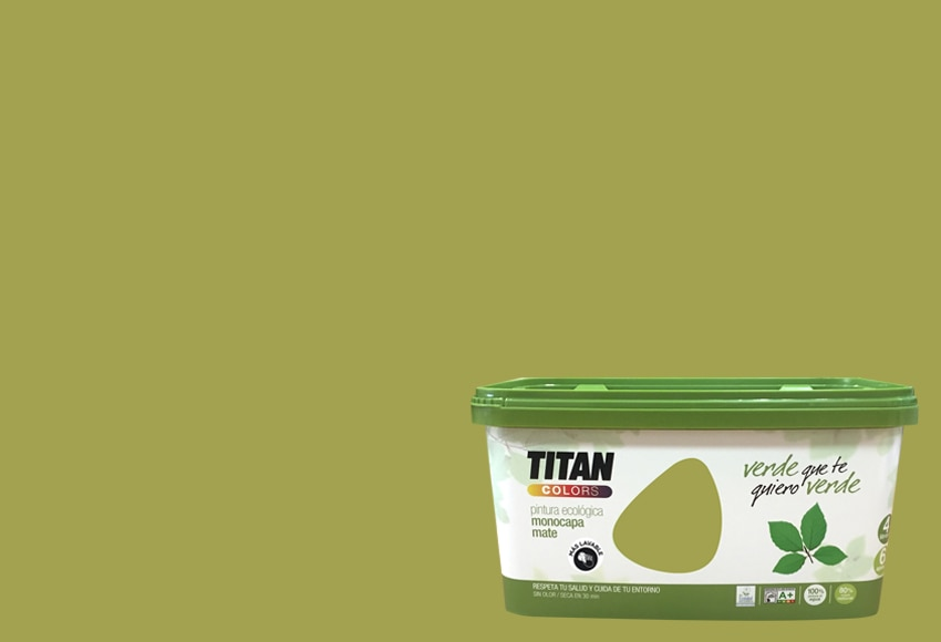 Pintura de color para paredes y techos tit n colors verde for Color verde grisaceo para paredes